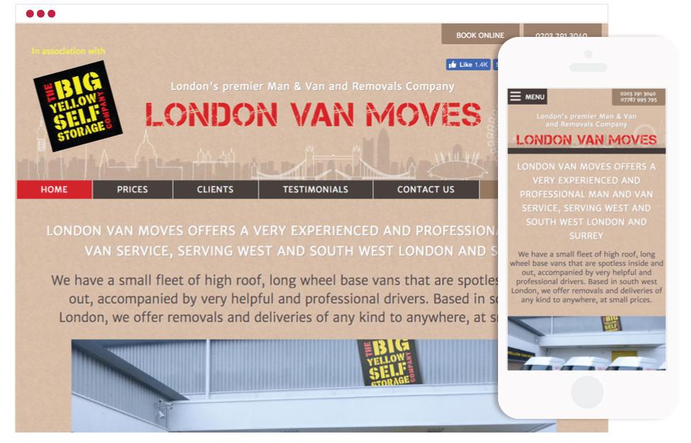 Website Design For London Based Removals Company